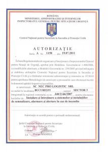 Autorizatie 1158