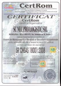 Certificat  18001