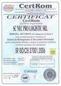 Certificat 27001